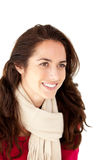 Smiling hispanic woman wearing a scarf Stock Photography