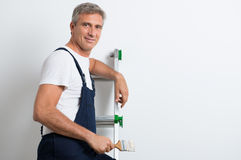 Smiling Home Painter Stock Photo