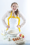 Smiling homemaker Stock Image