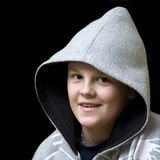 Smiling hooded boy Royalty Free Stock Photography