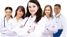 smiling hospital colleagues Stock Images