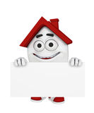 Smiling house with sign Royalty Free Stock Image