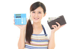 Smiling housewife Stock Photography