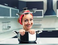 Smiling housewife Royalty Free Stock Images