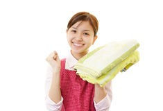 Smiling housewife royalty free stock photos