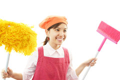 Smiling housewife Stock Image