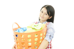 Smiling housewife Stock Photos