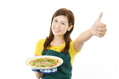Smiling housewife royalty free stock image