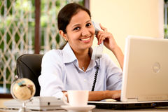 Smiling Indian business woman Stock Images