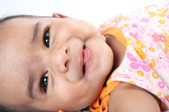 Smiling Indian Cute Baby Stock Photo