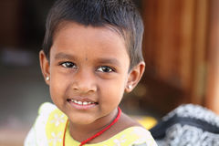 Smiling Indian cute girl Stock Photography