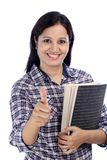 Smiling Indian female student Stock Photos