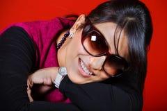 Smiling indian girl. Beautiful shot of smiling indian girl Royalty Free Stock Photos