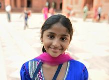 Smiling Indian Girl. In Fatehpur Sikri, Agra Stock Photography