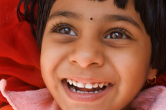 Smiling Indian Girl Stock Photo