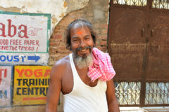 Smiling Indian Man in Varanasi Royalty Free Stock Photo