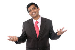 Smiling Indian professional welcoming Stock Photos