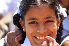 Smiling indian school girl. Indian school girl in Udaipur Stock Images