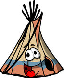 Smiling Indian teepee Stock Photography