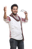 Smiling indian young man Stock Photos