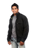 Smiling Indian young man with casual dress Royalty Free Stock Image