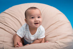 Smiling infant Stock Images