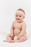 Smiling infant baby. The first year of the new life Stock Photo