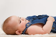 Smiling infant baby. The first year of the new life Stock Images
