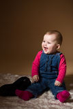 Smiling infant baby. The first year of the new life Royalty Free Stock Images