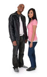 Smiling interracial couple royalty free stock images