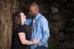 Smiling Interracial Couple Stock Photography