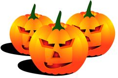 Smiling jack lantern Stock Images