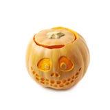 Smiling Jack-O-Lantern pumpkin isolated Stock Images
