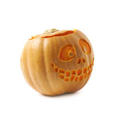 Smiling Jack-O-Lantern pumpkin isolated Royalty Free Stock Images
