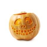 Smiling Jack-O-Lantern pumpkin isolated Royalty Free Stock Photo