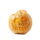 Smiling Jack-O-Lantern pumpkin isolated Stock Photo