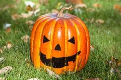 Smiling jack-o-lantern Stock Image