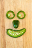 Smiling Jalapeno Pepper Face Stock Photos