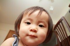 Smiling Japanese baby girl Royalty Free Stock Photo