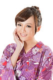 Smiling Japanese beauty in traditional clothes Stock Image