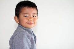 Smiling Japanese boy Royalty Free Stock Image