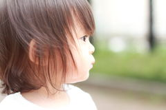 Smiling Japanese girl Royalty Free Stock Images