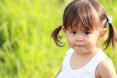 Smiling Japanese girl. 1 year old royalty free stock photography
