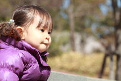 Smiling Japanese girl 2 years old Stock Image