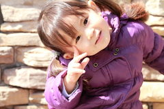 Smiling Japanese girl 2 years old Stock Images