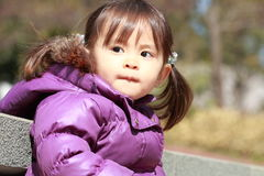 Smiling Japanese girl 2 years old Royalty Free Stock Photo