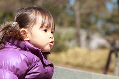 Smiling Japanese girl 2 years old Royalty Free Stock Images