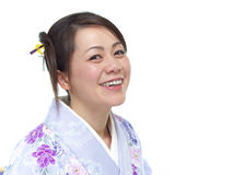 Smiling Japanese woman Stock Photo