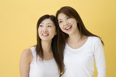 Smiling Japanese women Stock Photos