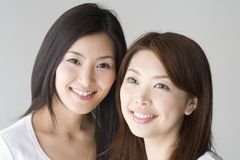 Smiling Japanese women Stock Images